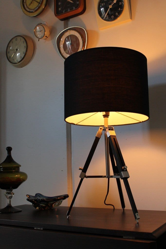 Tripod Table Lamp - Fabric Shade