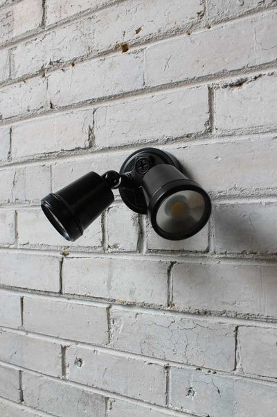 Twin adjustable led flood lights as a wall light or ceiling light indoors or outdoors