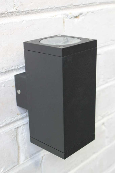 Twin box exterior wall light black outdoor wall light for outdoor lighting