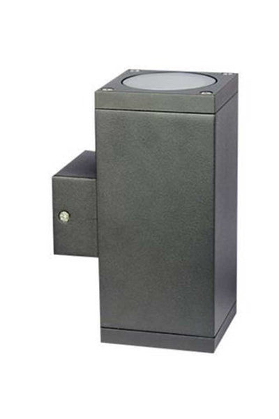 Twin box exterior wall light in graphite