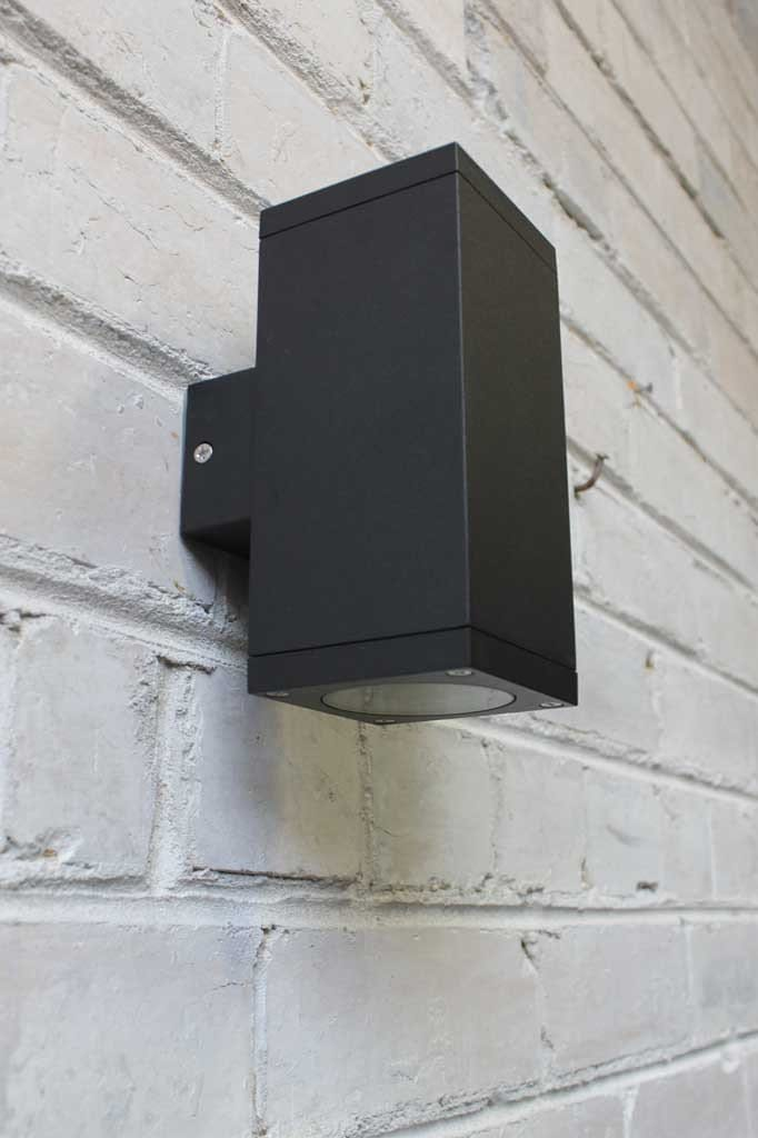 Twin box exterior wall light