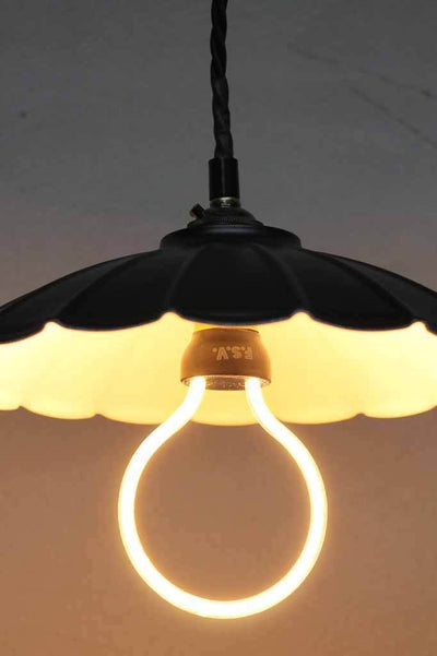 Twisted pendant cord. unique led halo bulb. online lighting Australia