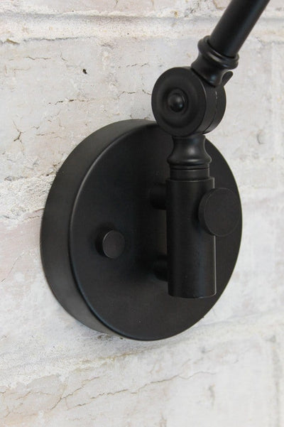 Two arm swing wall lamp swivel joint