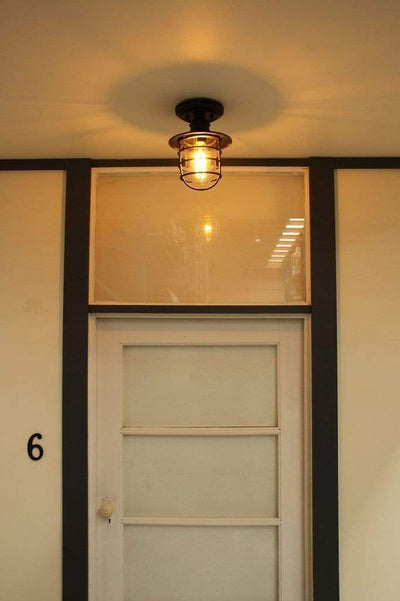 Under eave lighting. vintage style outdoor light.