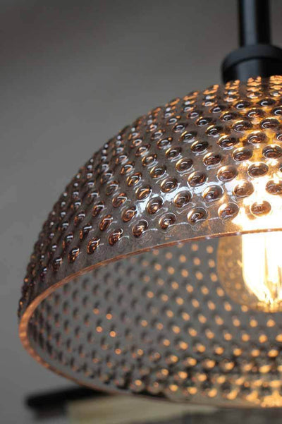 Unique retro lighting. hobnail glass rod pendant. hanging bedroom or living room lighting