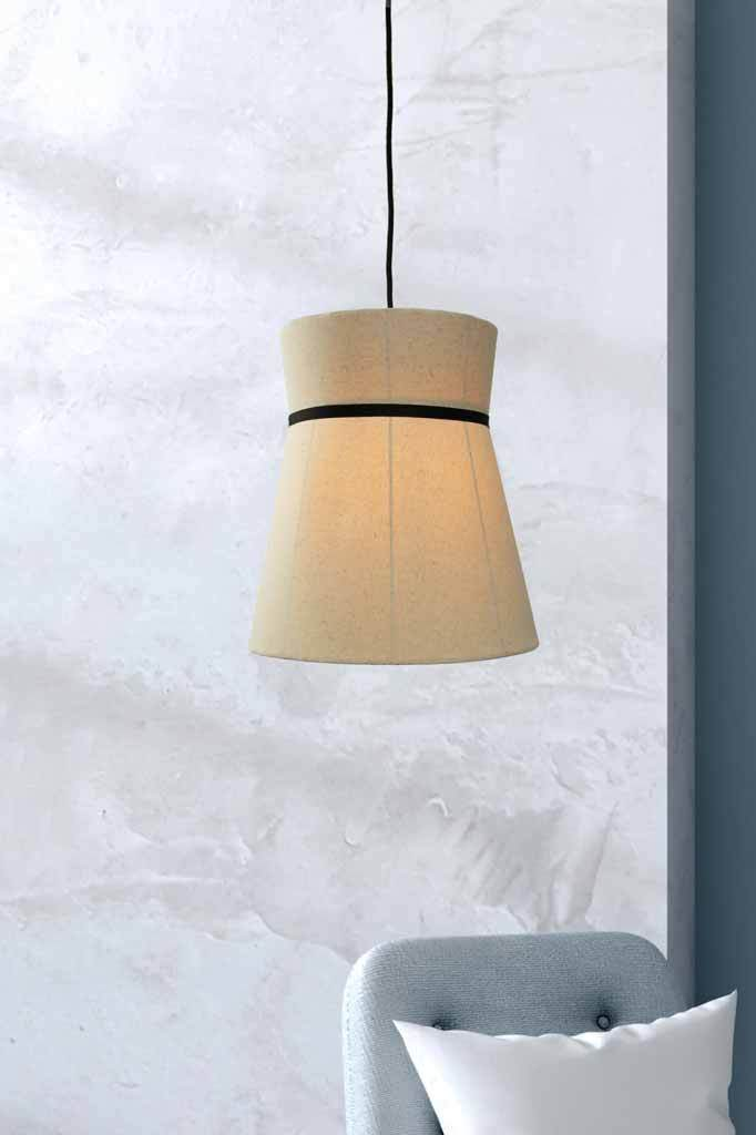View 2 image linen light pendant lights chandelier fabric modern industrial Adelaide black interior design house