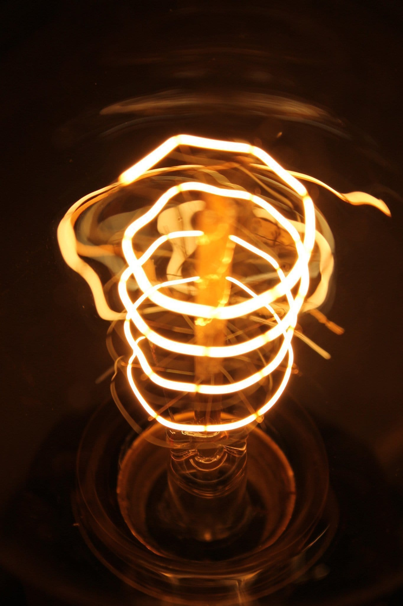Edison Light Bulb Dimmable Round Spiral Filament Fat
