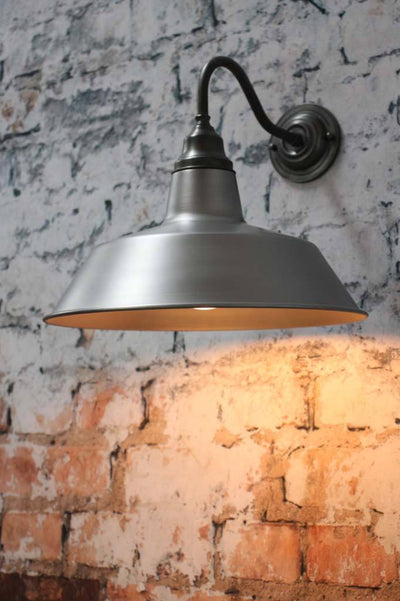 Vintage steel factory warehouse outdoor wall light