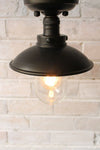 Vintage flush mount in black