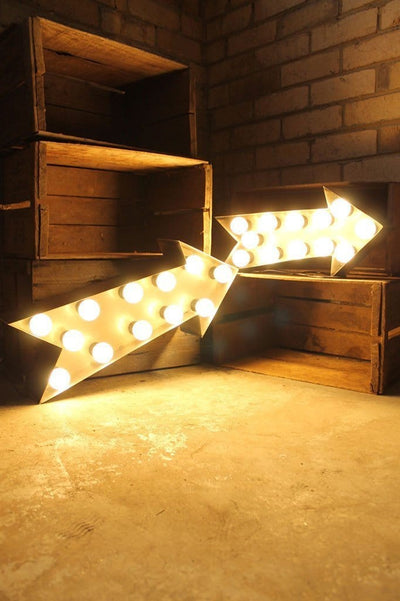 Vintage marquee light arrors