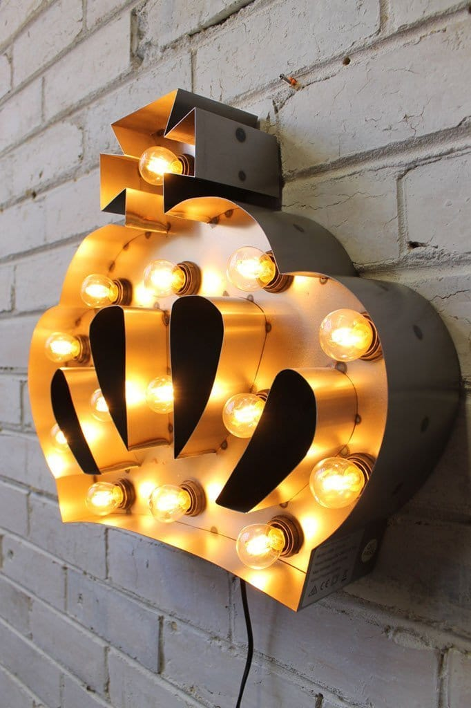 Vintage Marquee Lights Wall Plug Made Of Steel Two