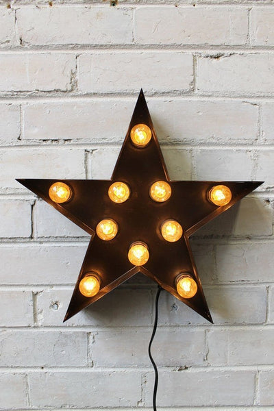 Vintage Marquee Lights star shape with LEDs in black 0e8f305a-5ae5-4bd4-a1ec-b8ec3ac17ea3