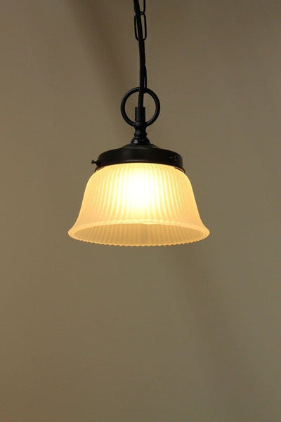 Vintage glass lighting. kitchen and dining room lighting.