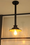 Vintage style rod pendant for exterior use. entryway lighting. online lighting Australia