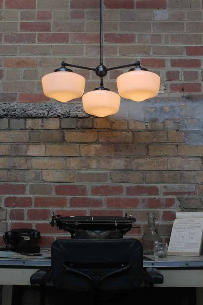 Washington Schoolhouse Industrial Chandelier