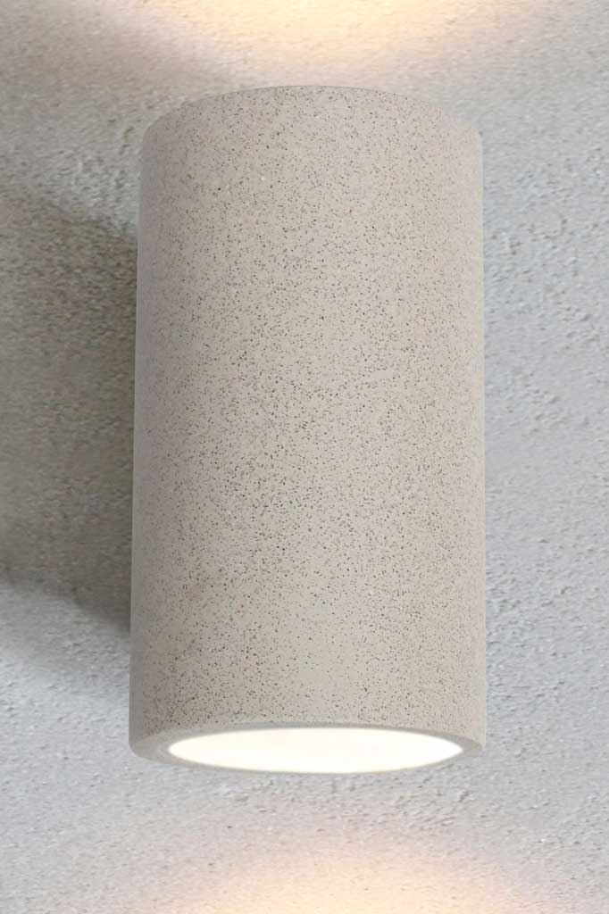 White sandstone outdoor wall light