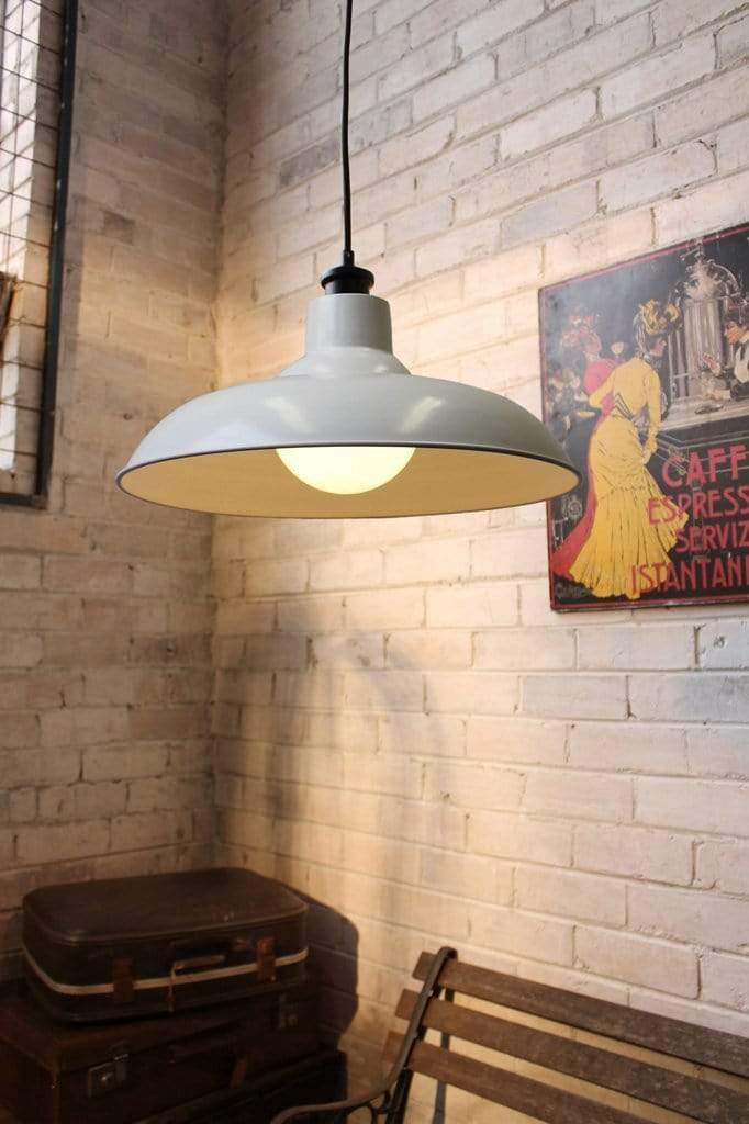 White hanging light. industrial style kitchen lighting. buy pendant lights online
