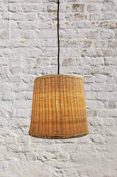 Wicker pendant lights. classic rustic cottage or Australian beach boho style