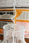Wire cage pendant light with ceiling chain