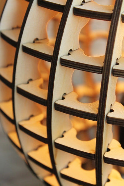 Wooden bulb light shade