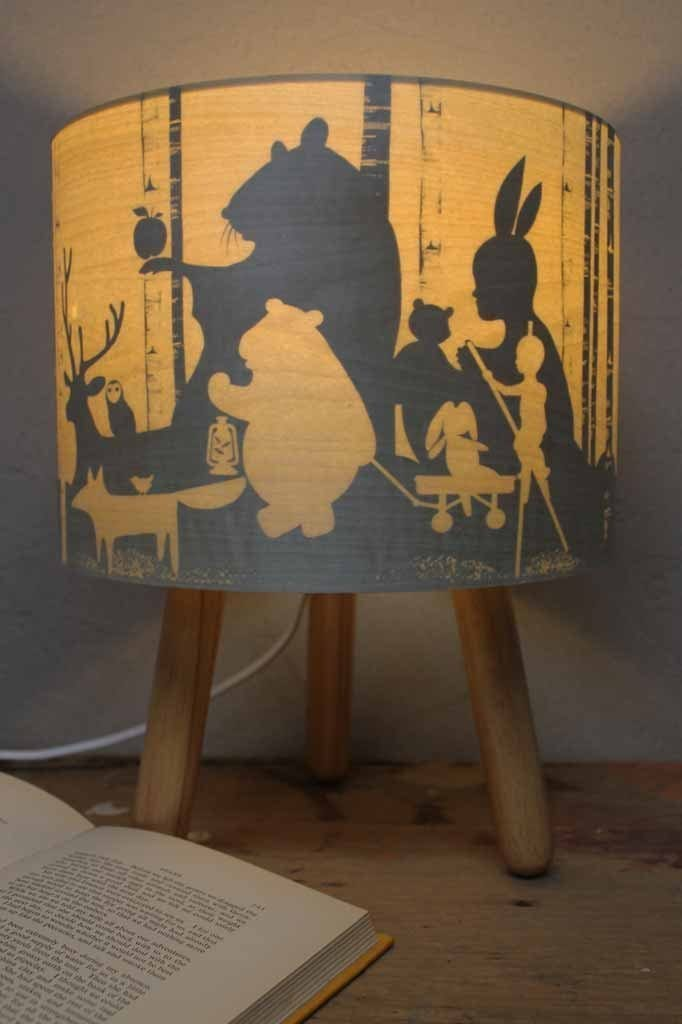 Woodland scene childrens lamp