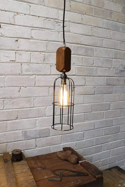 Workhouse cage lights with edison style bulb