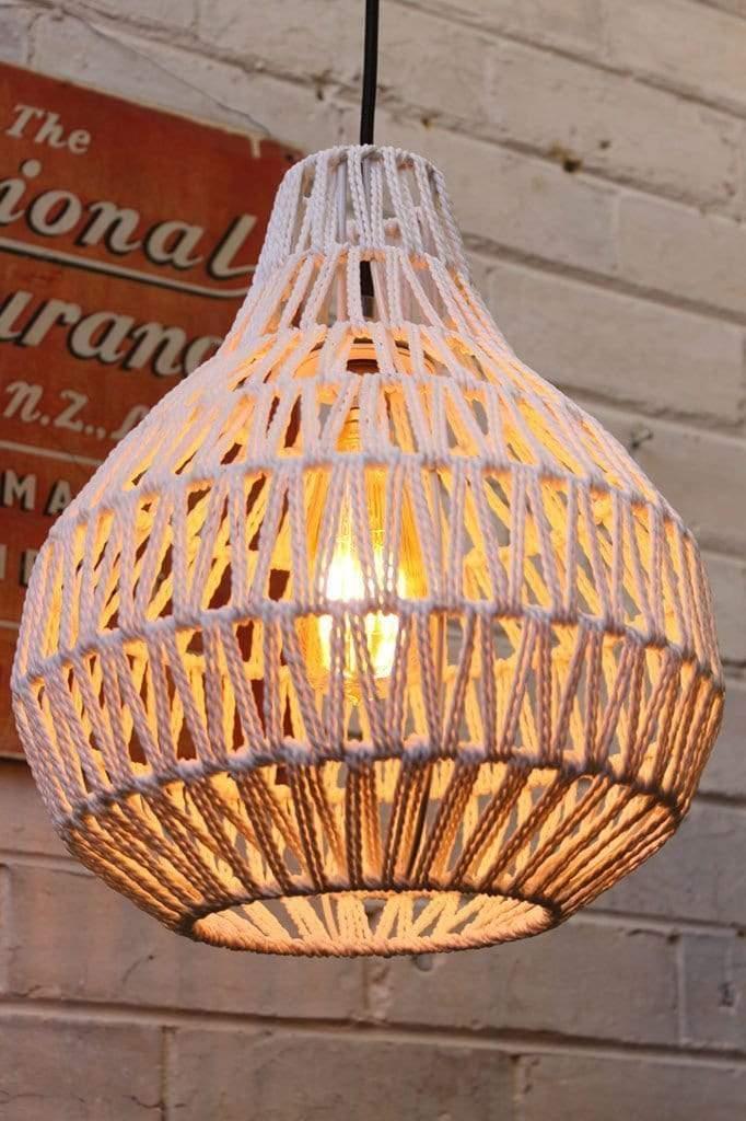 Woven Pendant Light Woven Shade In White Or Black Fat