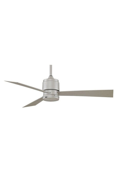 Zonix outdoor ceiling fan in satin nickel