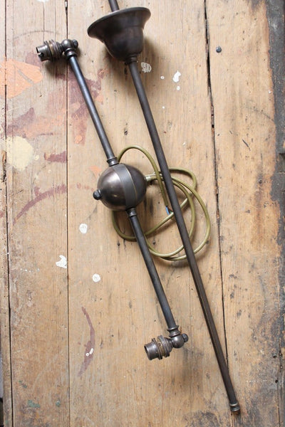 antique bronze industrial chandelier double arm