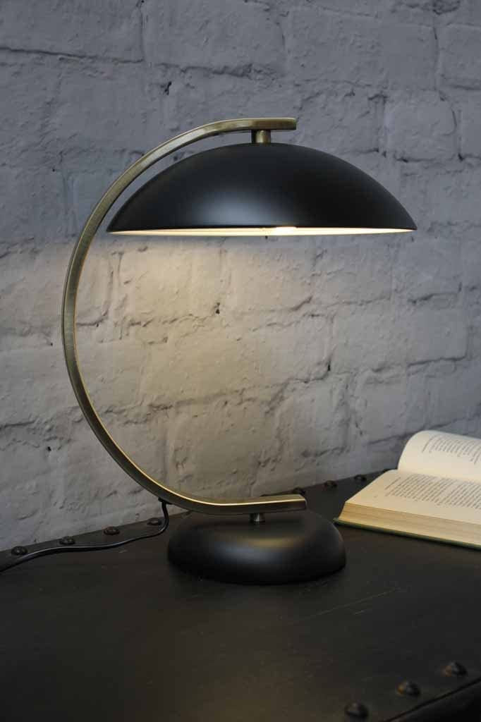 art deco style table lamp in black