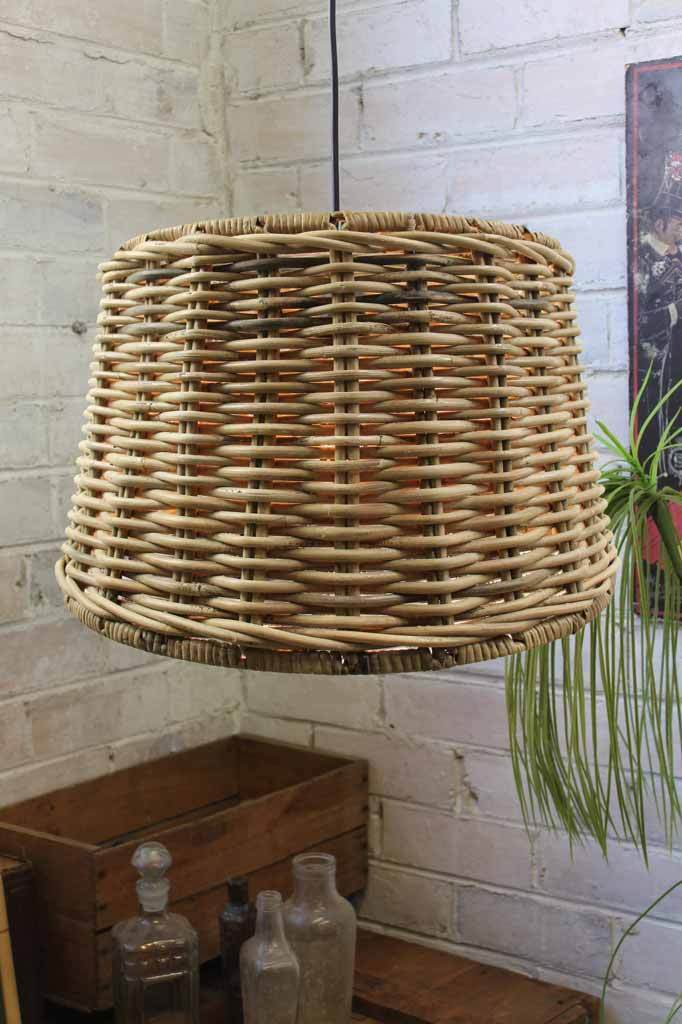 Basket Wicker Pendant Light
