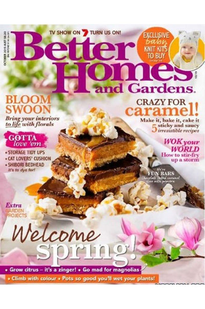 Better homes and garden magazine oct 2015 featuring fat shack vintage lights