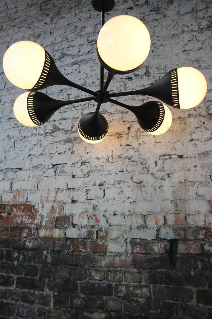 Black chandelier retro lighting Melbourne