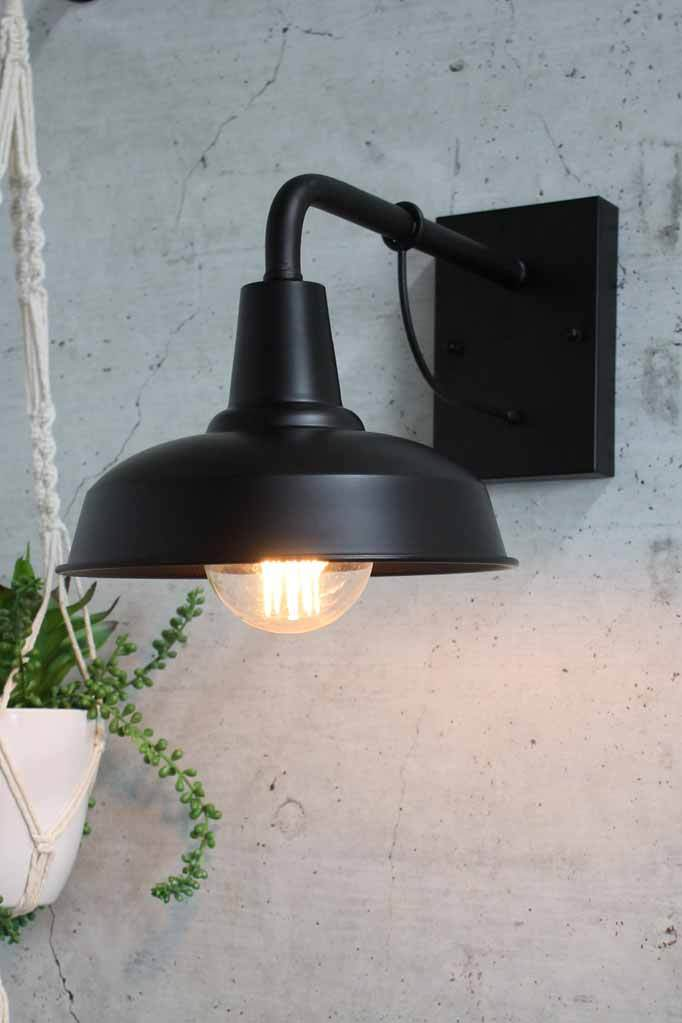 Black outdoor wall light front porch lighting