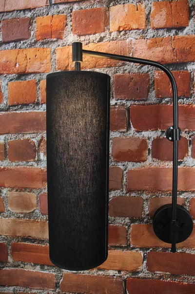 Black retro wall light modern urban Melbourne lighting