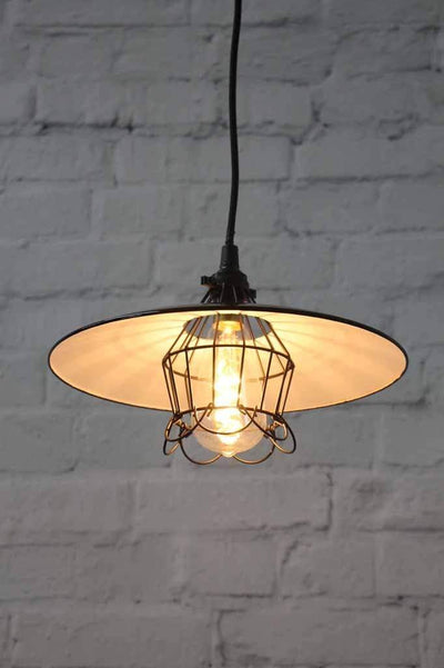 black-wire-cage-with-black-pendant-light