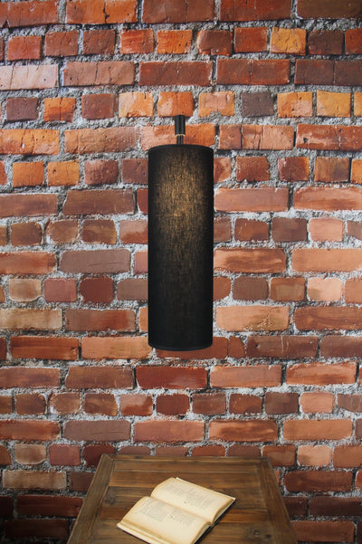Black fabric light wall lights
