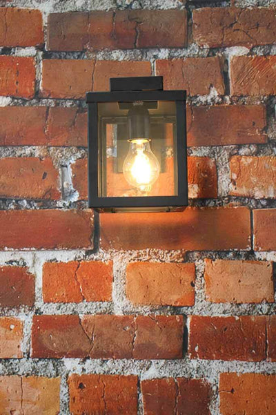 Black outdoor light for undercover outdoor areas