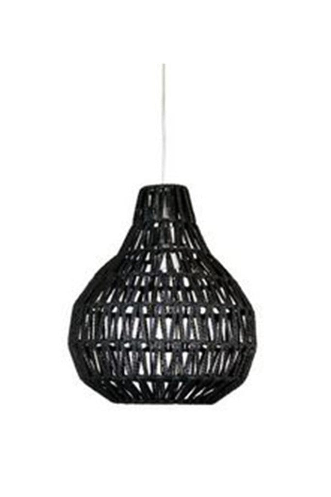 Woven Pendant Light Woven Shade In White Or Black Fat Shack Vintage