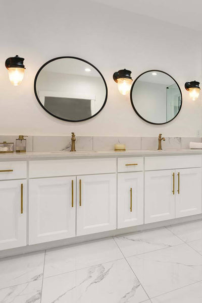 California bungalow style bathroom lighting