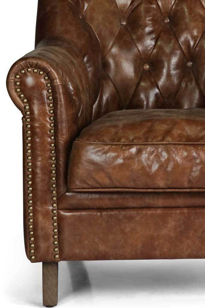 Chesterfield leather club chair Australian online furniture small armchair