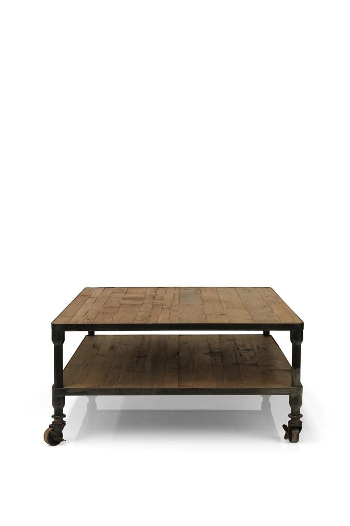 Caldwell Wood Coffee Table Table With Wheels Fat Shack Vintage