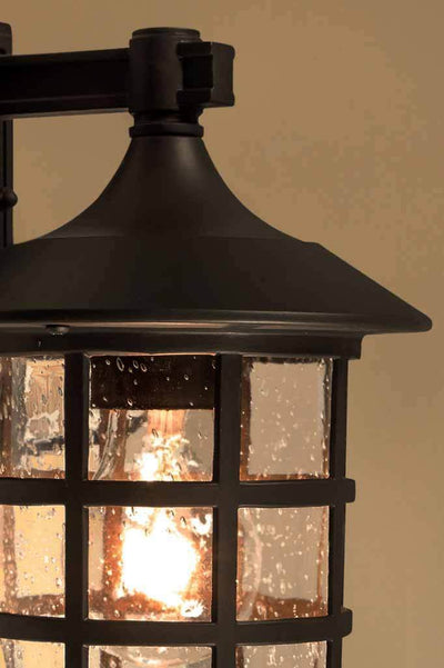 Dark bronze outdoor wall light in two sizes large and small