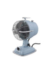 Desk fan in baby blue with speed control and fan cage. ideal table fan or office desk fan
