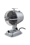 Desk fan in silver with speed control and fan cage. ideal table fan or office desk