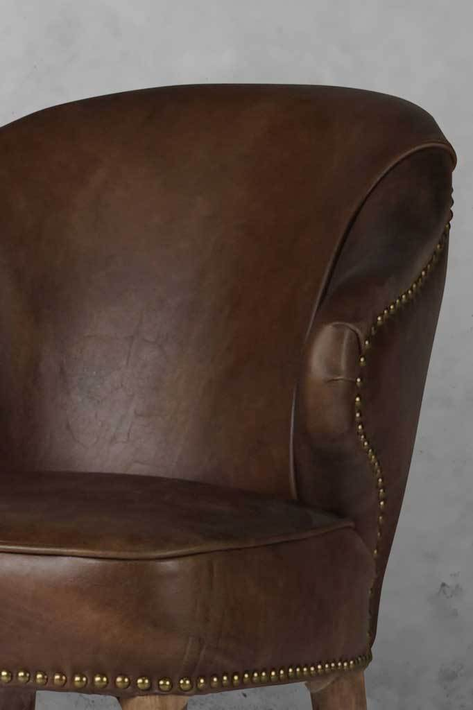 Baton Deconstructed Leather Dining Chair Online Australia Fat Shack Vintage