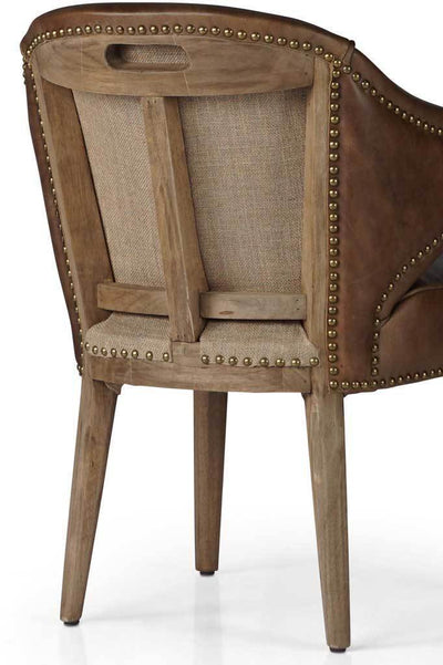 Baton Deconstructed Leather Dining Chair Online