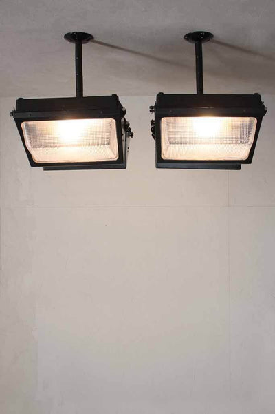 Double bunker vaulat light re purposed into a robust flush mount