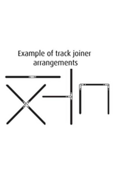 Example of track joiner arrangements for track lighting