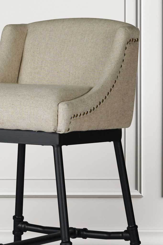 White fabric chair online furniture Australia